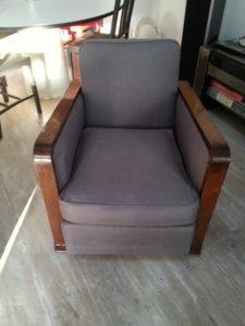 fauteuil art déco, tissu Casal