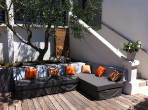canapé outdoor en Sunbrella