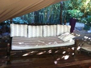 canapé  en tissu outdoor Sunbrella