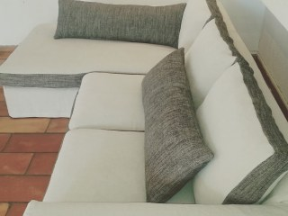 housse de canapé noir:blanc