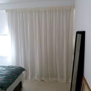rideaux en voile de lin