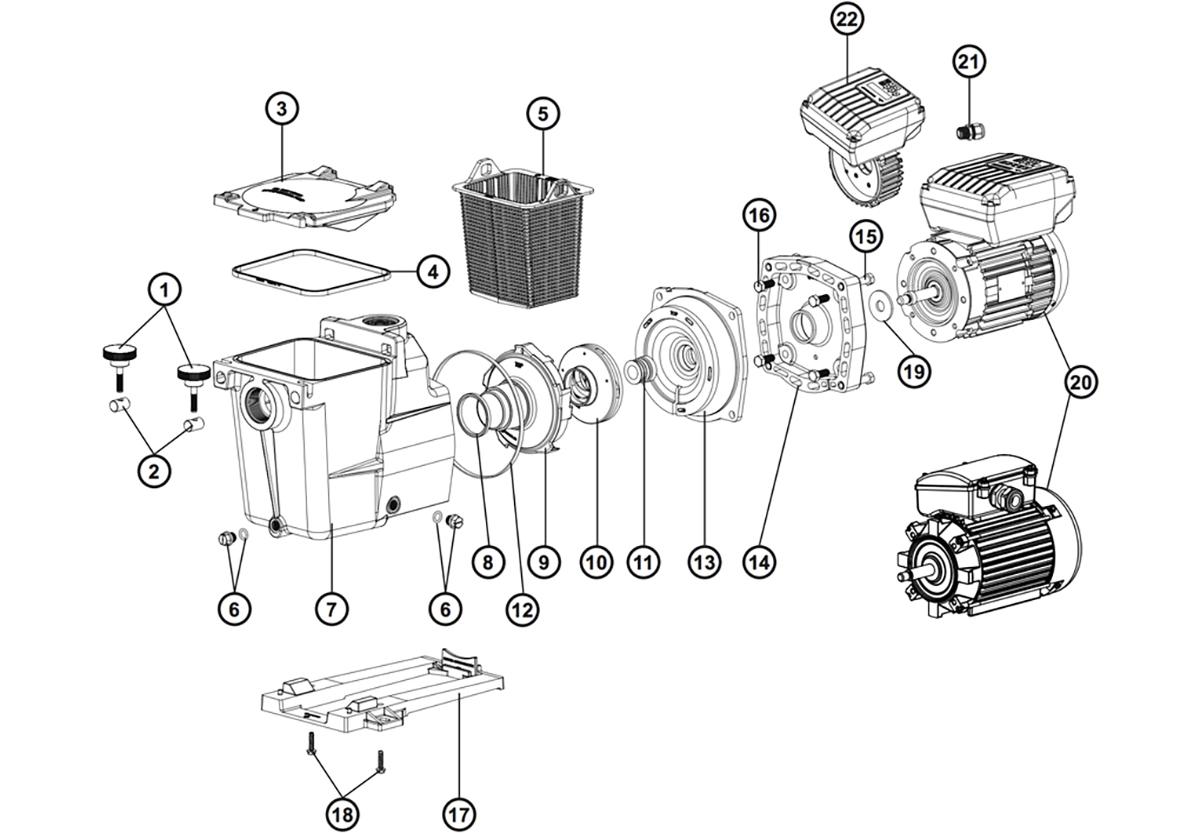 Vente De Pieces Detachees Pour Pompe Hayward Super Pump