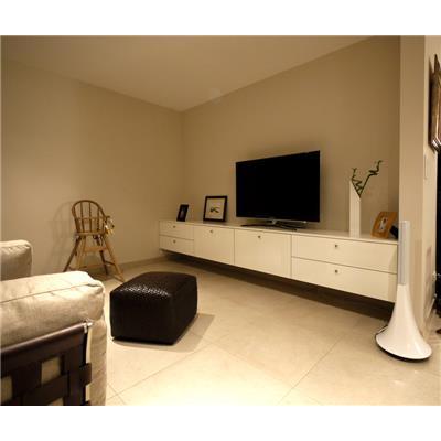 meuble tv suspendu laque blanc meuble