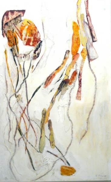 Tanz der Medusa, Collage auf Leinwand, 140x85