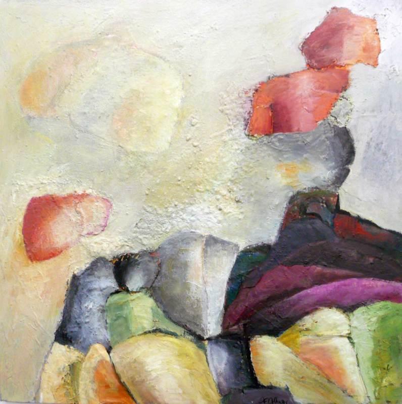 Ruhe, Acryl auf Leinwand, 70x70