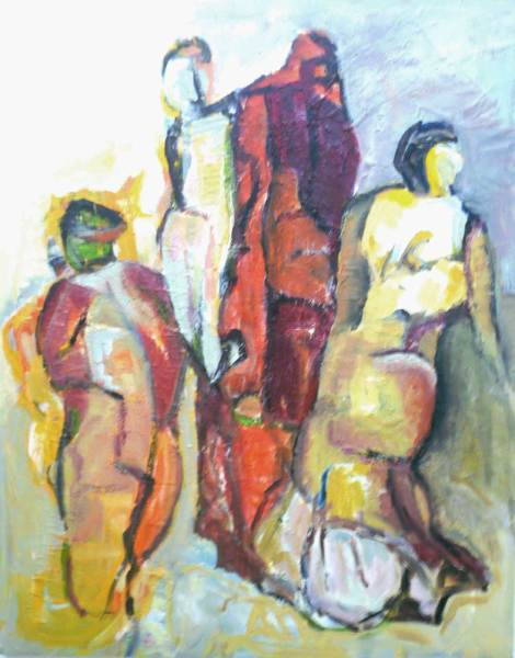Theaterbesuch, Acryl auf Leinwand, 100x80
