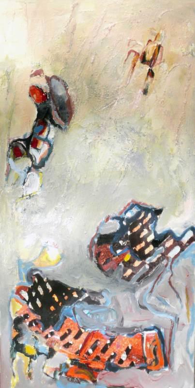 Vernetzt, Acryl, Foto auf Leinwand, 50x100