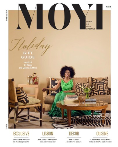 Modern Afro Style Inspiration Moyi Magazine Winter Issue Featuring Nomzamo Mbatha In A Dress By Joel Jansen Van Vuuren