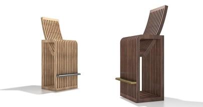 Miminat Karamat Barstool Furniture inspired by contemporary African design