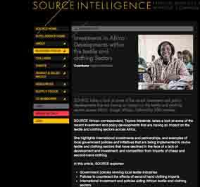 Tapiwa Matsinde Source Intelligence Magazine Ethical Fashion Forum Investments in Africa Developments within the textile and clothing sector