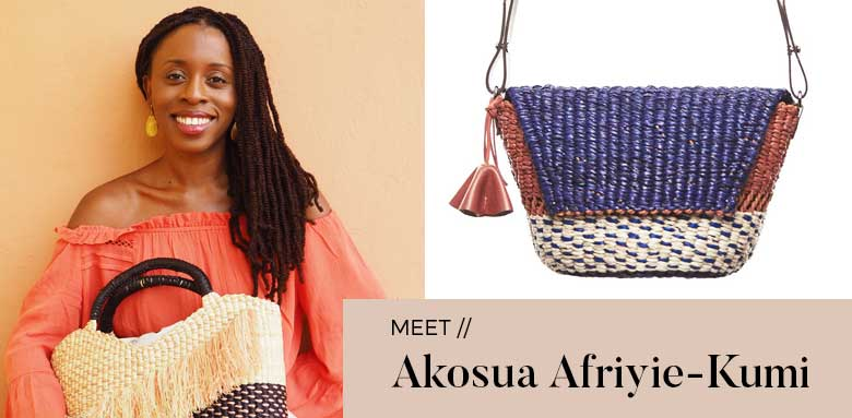 Akosua Afriyie Kumi Akosua Afriyie Kumi AAKS Fashion Designer Raffia Handbags and interior light pendants