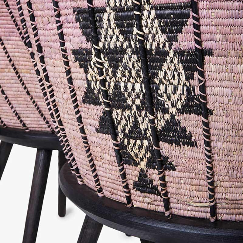 Hlabisa Bench pink diamond seating