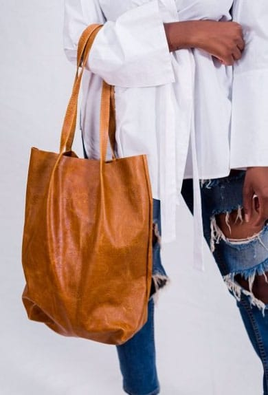 Kova Namibia tan leather tote