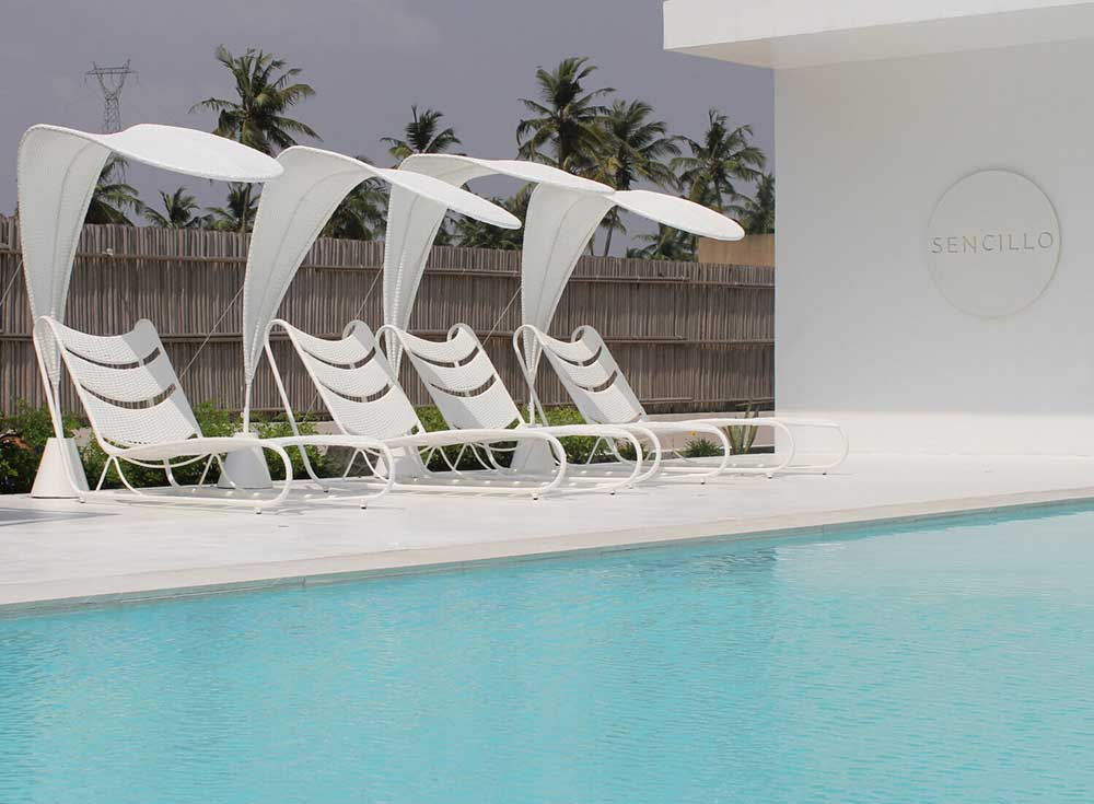 Sencillo a Stylish Minimalist Lagos Beach House Pool Loungers