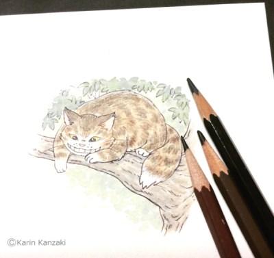 チェシャ猫イラスト