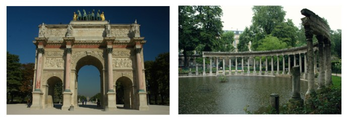 Jardin du Tuileries and Parc Monceau