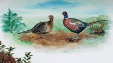 Fasane Wandmalerei