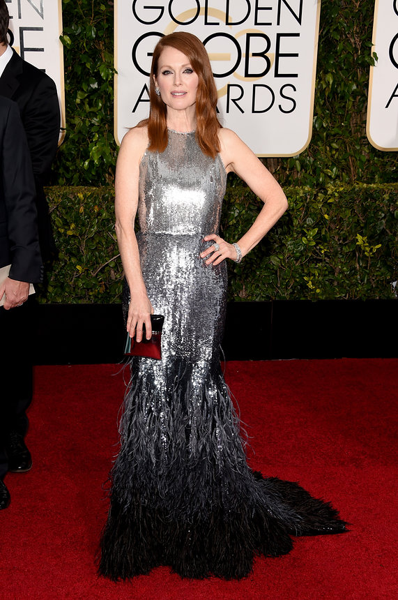 Julianne Moore in Givenchy Haute Couture and Chopard jewelry
