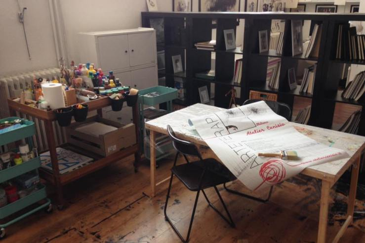 Siamo ospiti dell'atelier di Eleonora Prado