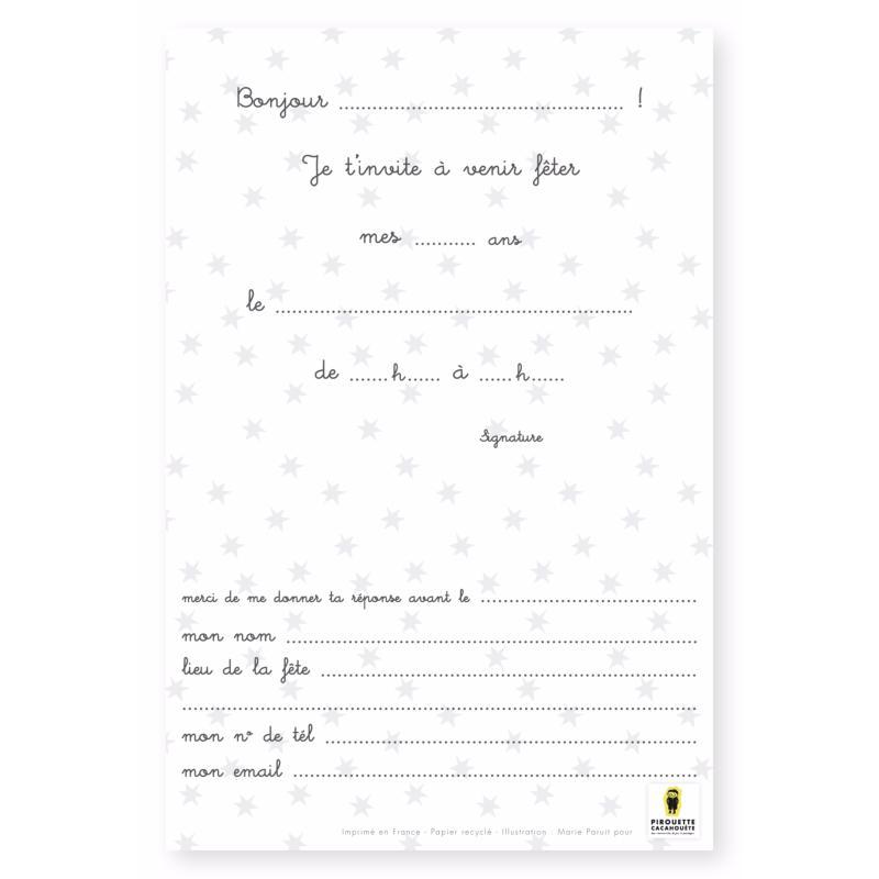 cartes d invitation anniversaire joyeux lapin x8