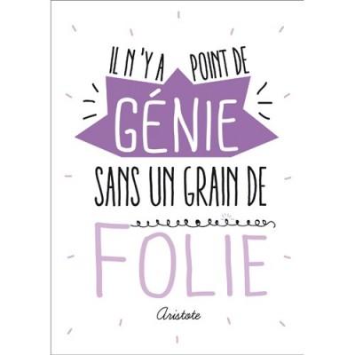 Carte Postale Message Point De Gnie Sans Folie Kiub De L