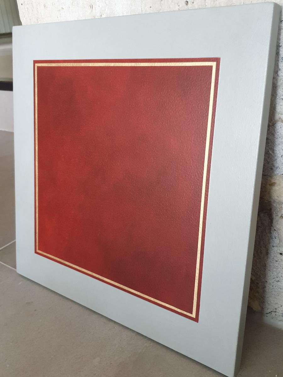 faux cuir rouge