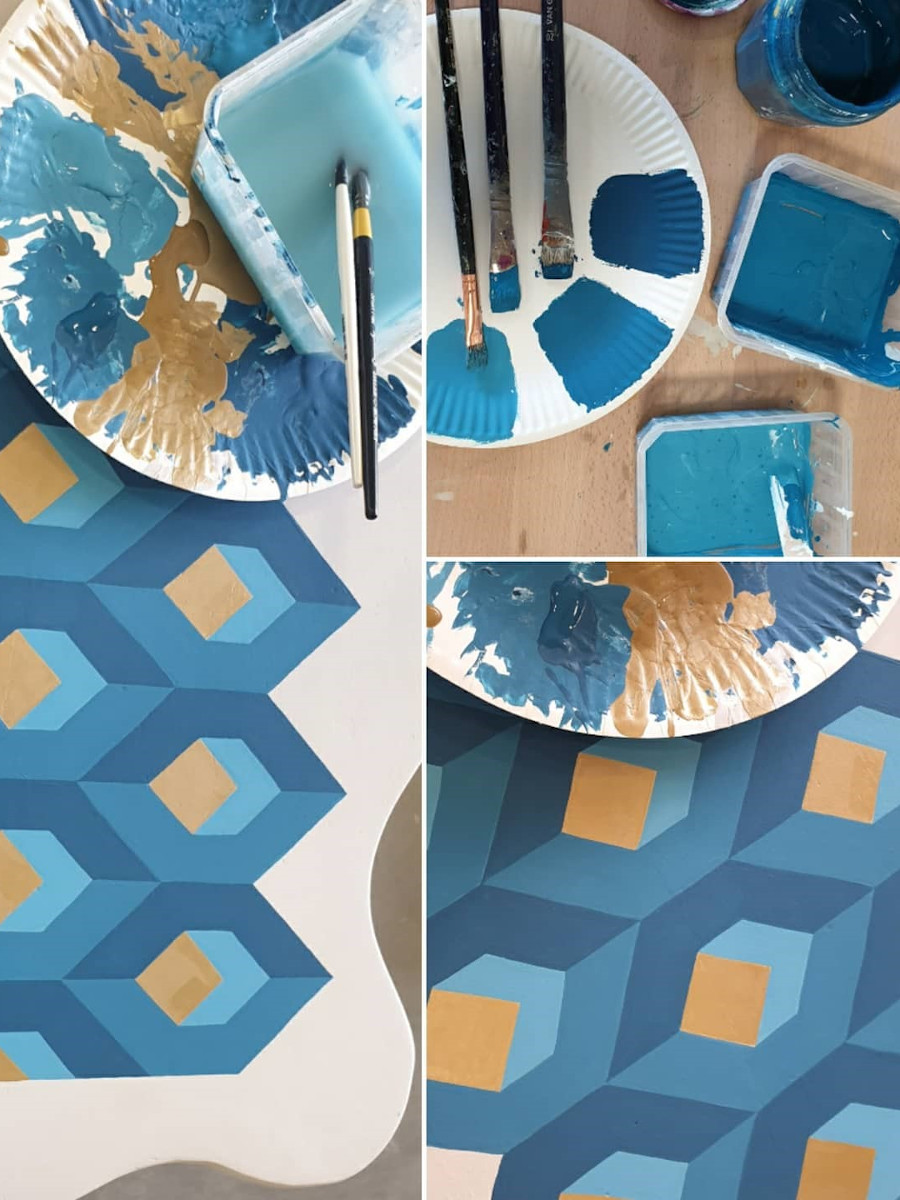 création d'un camaïeu de bleu