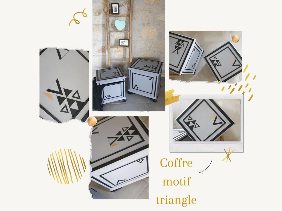 coffre motif géométrique