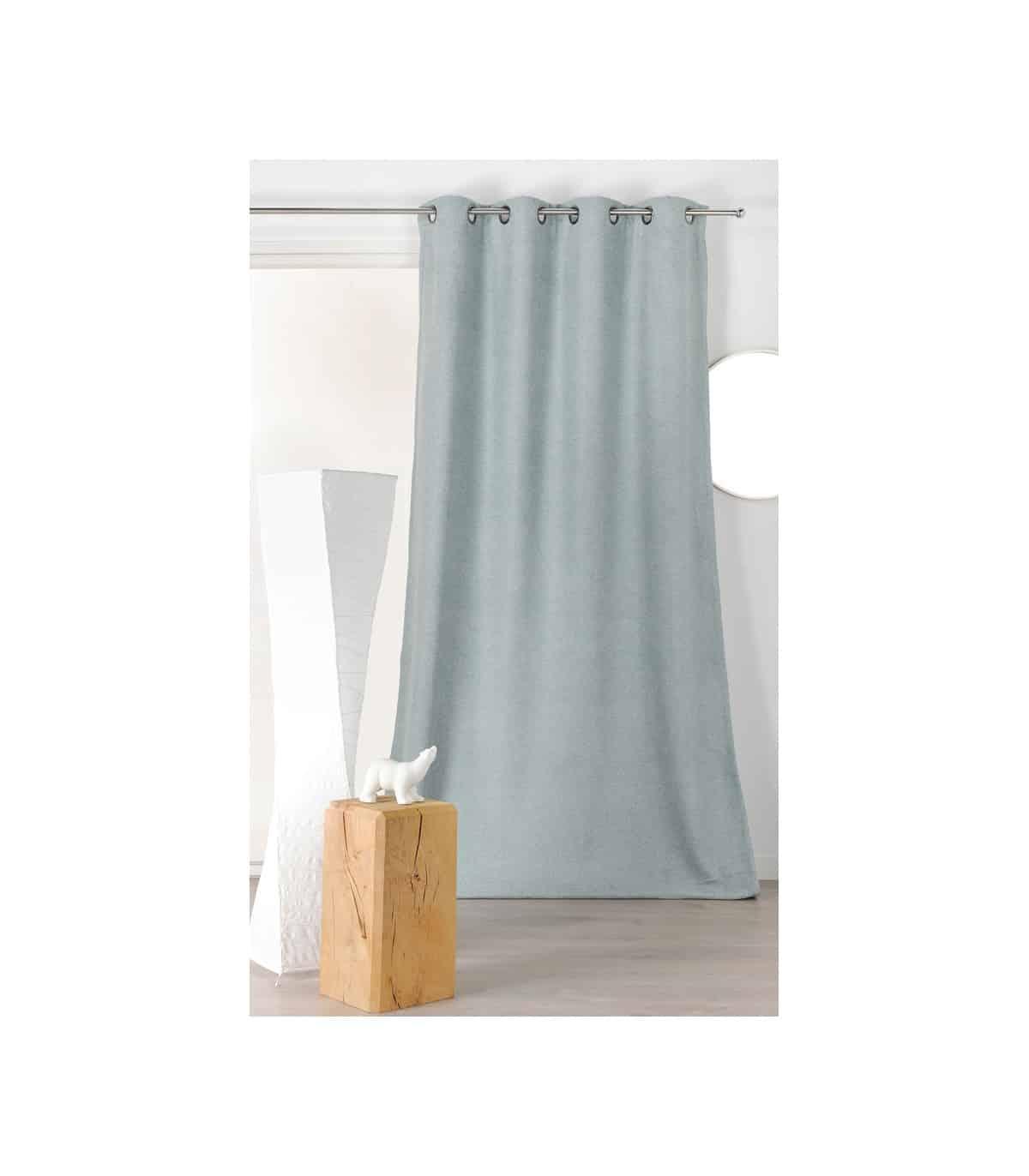 rideau isolant et phoniquevelours gris