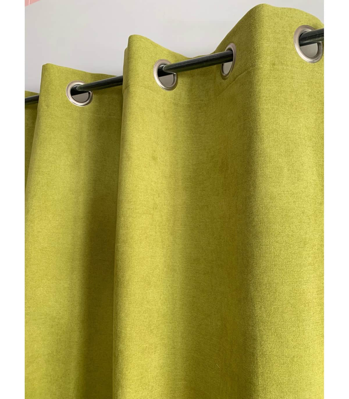 rideau vert anis uni phonique isolant