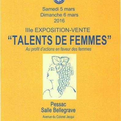 Sorop Bordeaux Affiche Talents de Femmes 5 et 6 mars 2016
