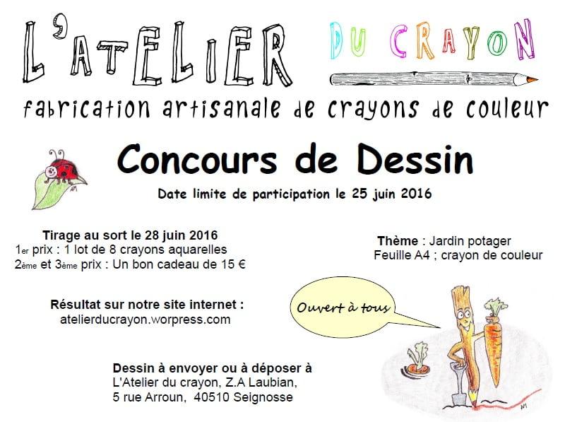 affiche concours dessin 2016