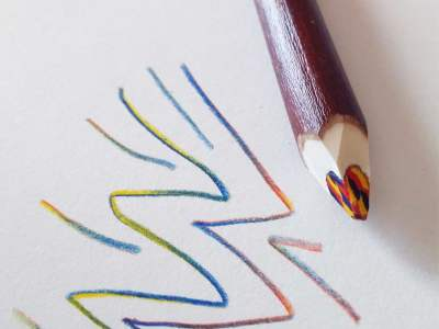 crayons magiques x 5 - un arc en ciel de couleurs