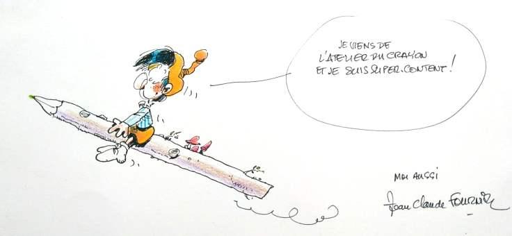 dédicace de Jean-Claude Fournier Bizu spirou fantasio