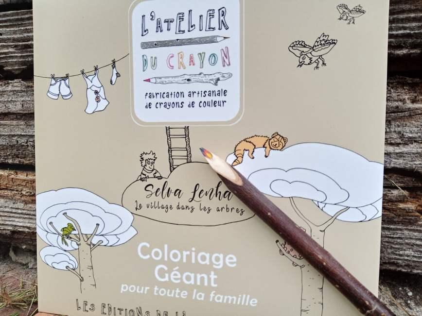 coloriage geant crayon multicolore
