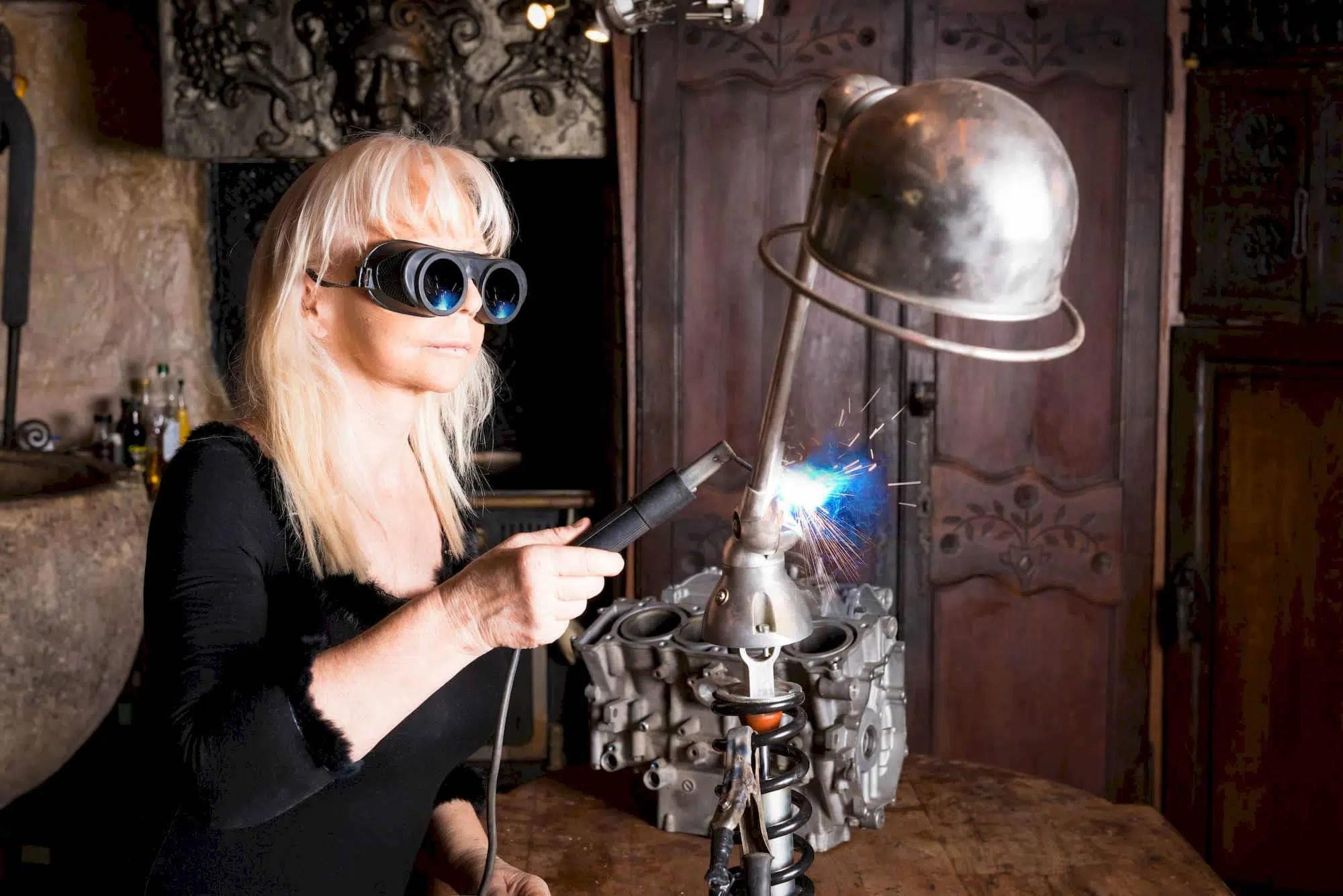 Atelier du Loft Daniela DAUDE sculpture automobile