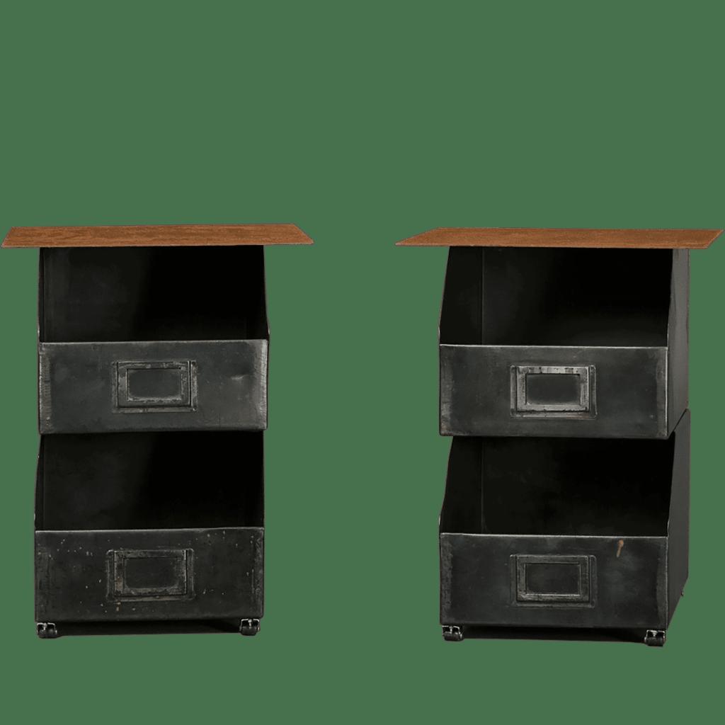 Decoration usine style garage table chevet