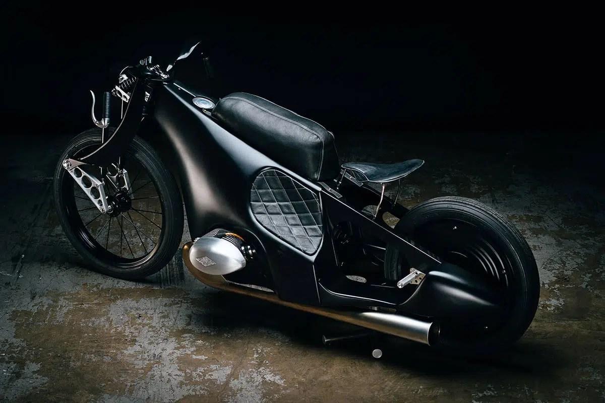 BMW Lamdspeeder Moto rétro futuriste revisitée