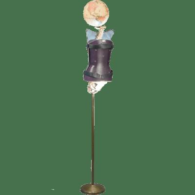 Luminaire steampunk Corset Médical