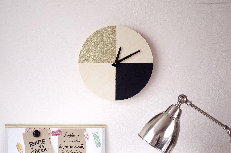 {DIY} Il est pile-poil l'OR sur mon horloge une (2)