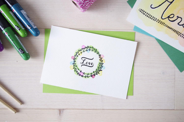 {DIY} Mes cartes de remerciement aquarelle !