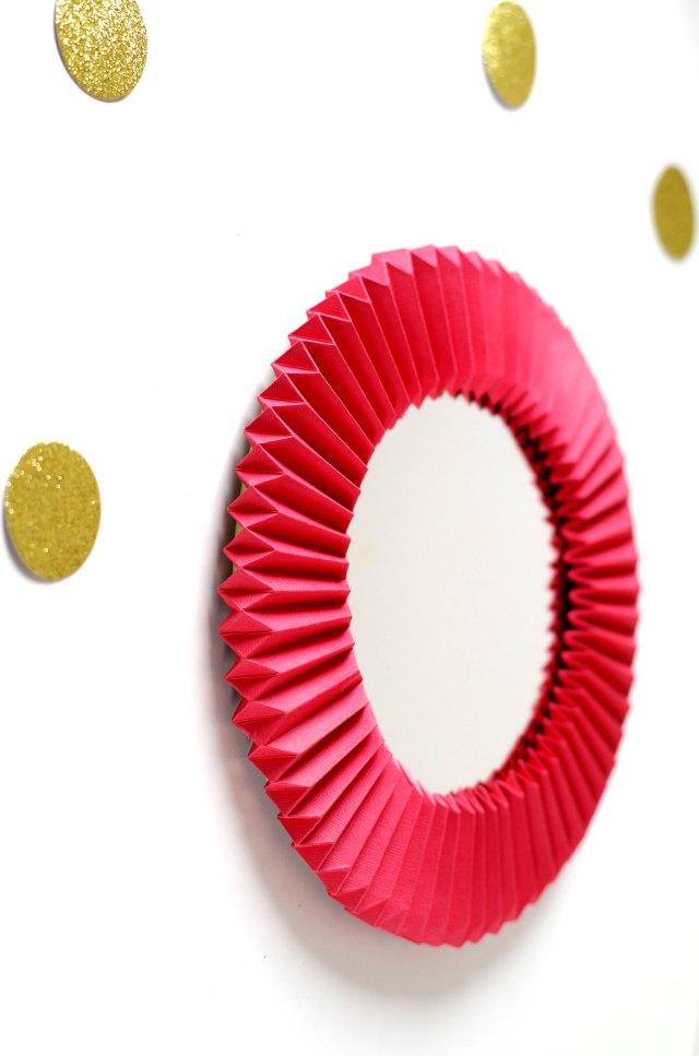 DIY Un cadre En origami pour mon miroir pour un look géométrique (10)