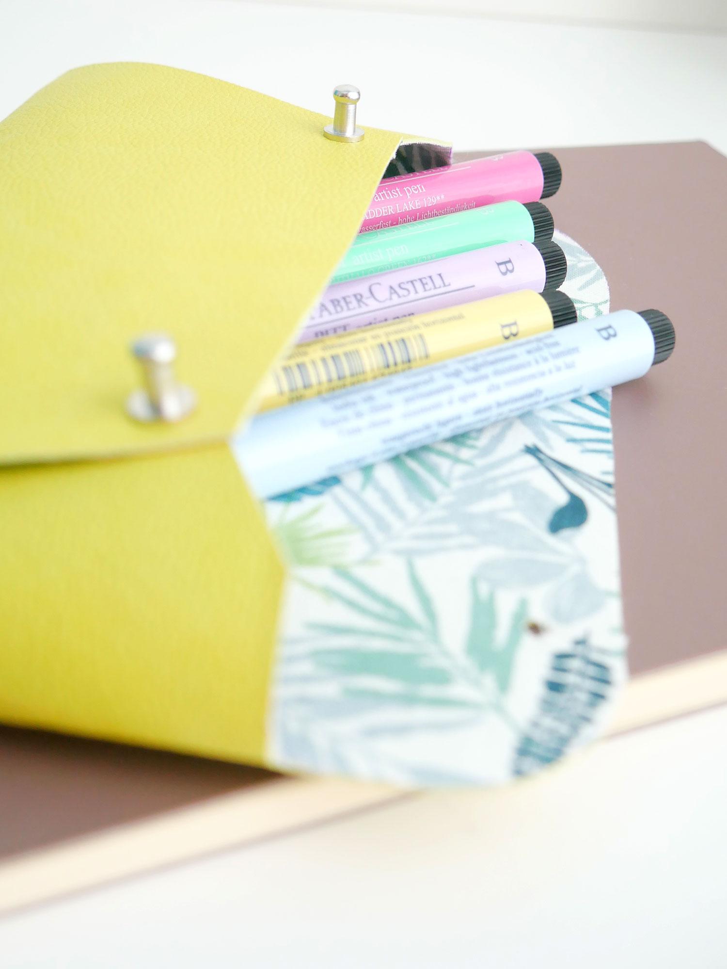 DIY | Ma pochette en cuir pour ranger mes feutres !