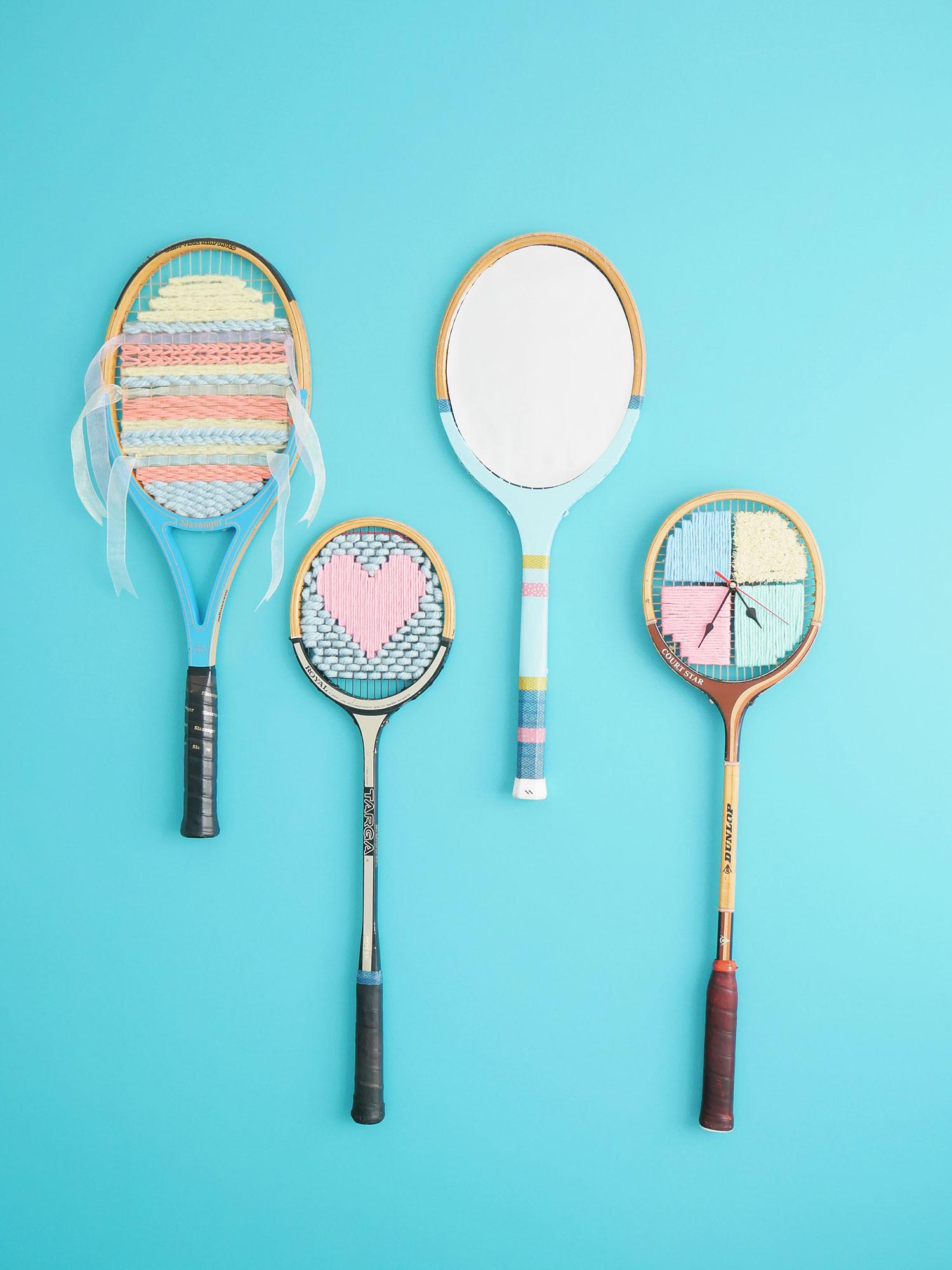 DIY | Nouvelles utilités pour des raquettes de tennis en bois