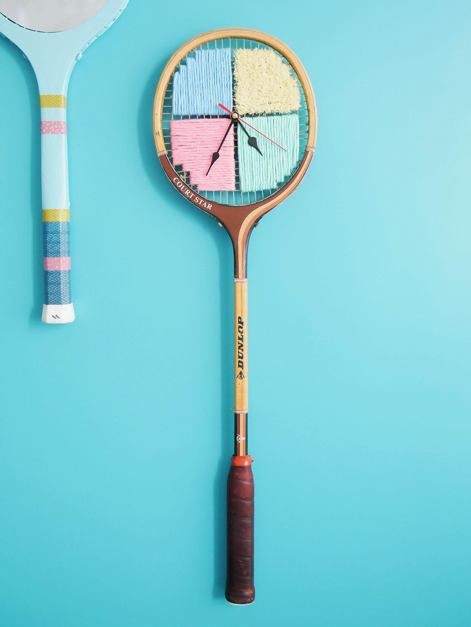 DIY | Quand une raquette vintage se transforme en Horloge