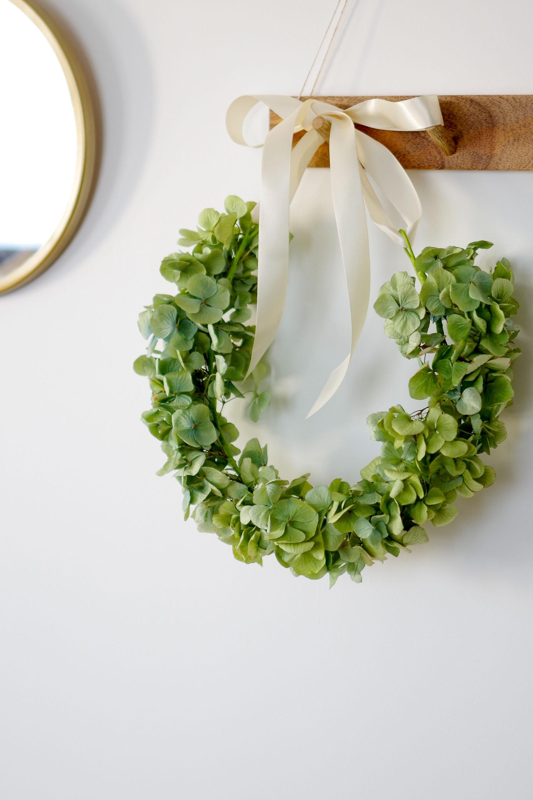 DIY – Une couronne d'Hortensia séchée