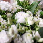 bouquet fleurs blanches elegance atelier lavarenne lyon 5
