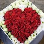 coffret-coeur roses rouges Atelier Lavarenne