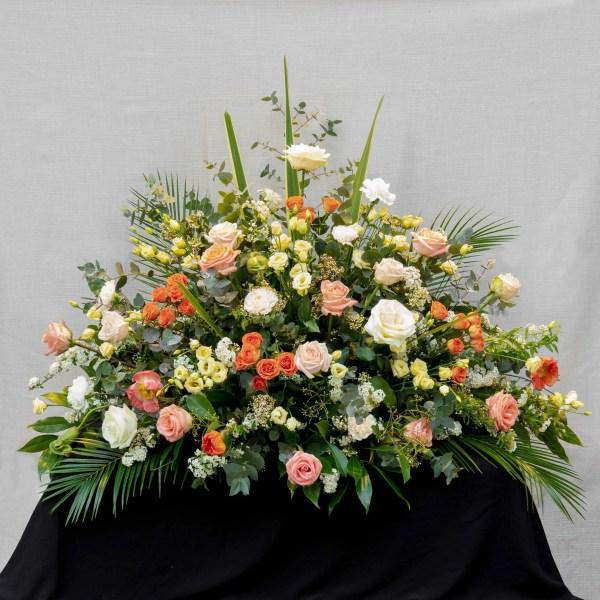 fleurs funérailles devant de cerceuil-atelier-lavarenne-fleuriste-lyon-2