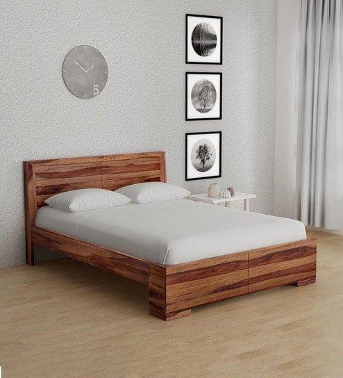 Segur Solid Wood Queen Size Bed In Provincial Teak 264058903